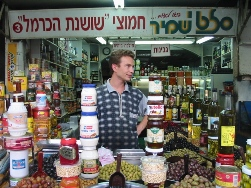 Vendor in Machane Yehuda, Jerusalem