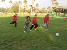 Sienna plays Football with the Boys and Girls Team of Yeruham