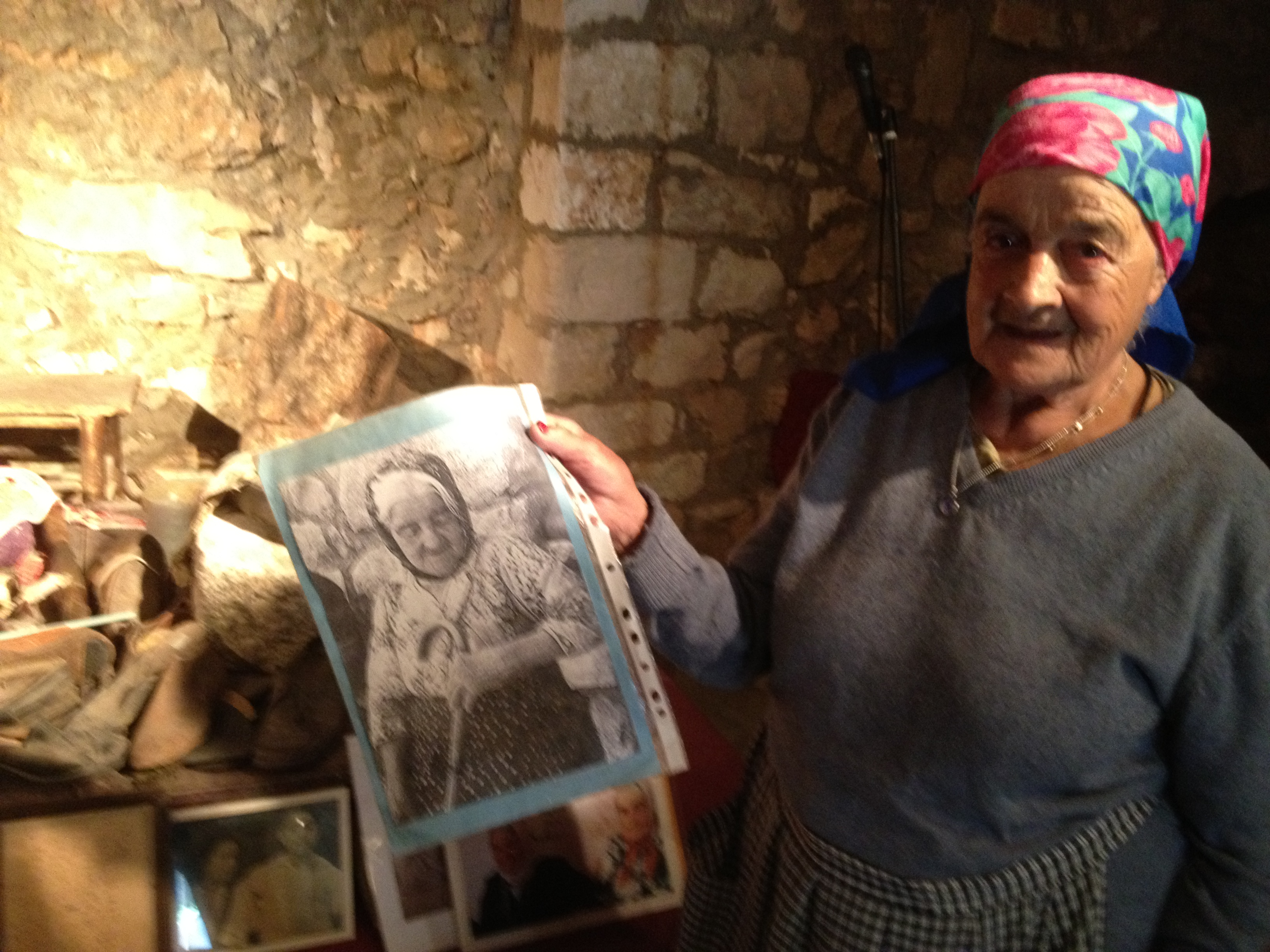 Margalit Zinaty with a Picture of her Mother Saada